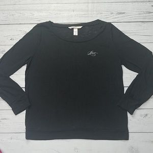 Victoria's Secret burnout long sleeve black